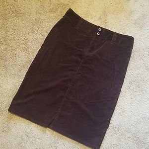 Amazing Skirts - Burgundy Corduroy Pencil Skirt